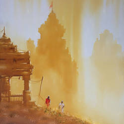 Temple & People - 22x30