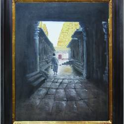 Ancient Hampi temple  - 24x18