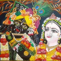 Radha & Krishna - 25x35