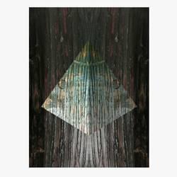 Digital pyramid  art print by AdroitArt