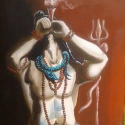 Shiva smoking - 12x18