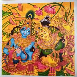 Kerala Mural Painting Radha Krishna - 23x23