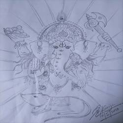 Ganesha  - 8.27x11.69