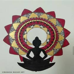 Buddha Mandala Art - 8.2x11