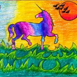 Unicorn Horse solo - 8.2x11.7