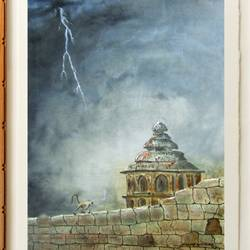 Historical Hampi fort - 24x18