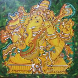 Mural ganesha - 24x24