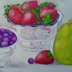 Berries in sliver - 19x13