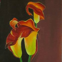 Red calla lilly - 11x16
