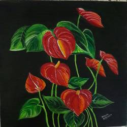Red Anthurium - 12x15