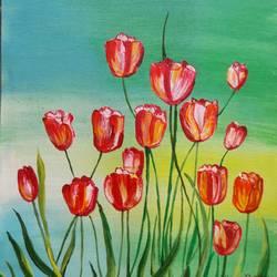 tulips - 12x15