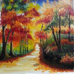 Autumn trees - 16x19