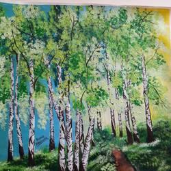 Birch trees - 16x19