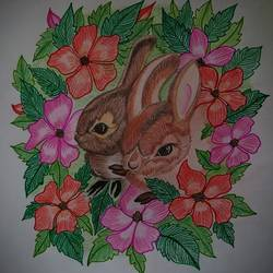 Cute rabbits - 10x10