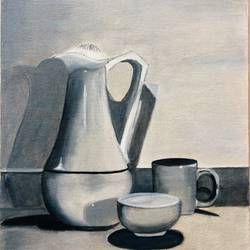 JUG IN BLACK WHITE - 12x16