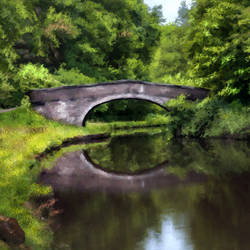 Forest Bridge & Lake - 33x20