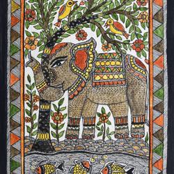 Madhubani Elephant - 6.5x10.2