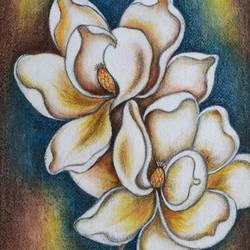 Two Magnolias - 10x14.2