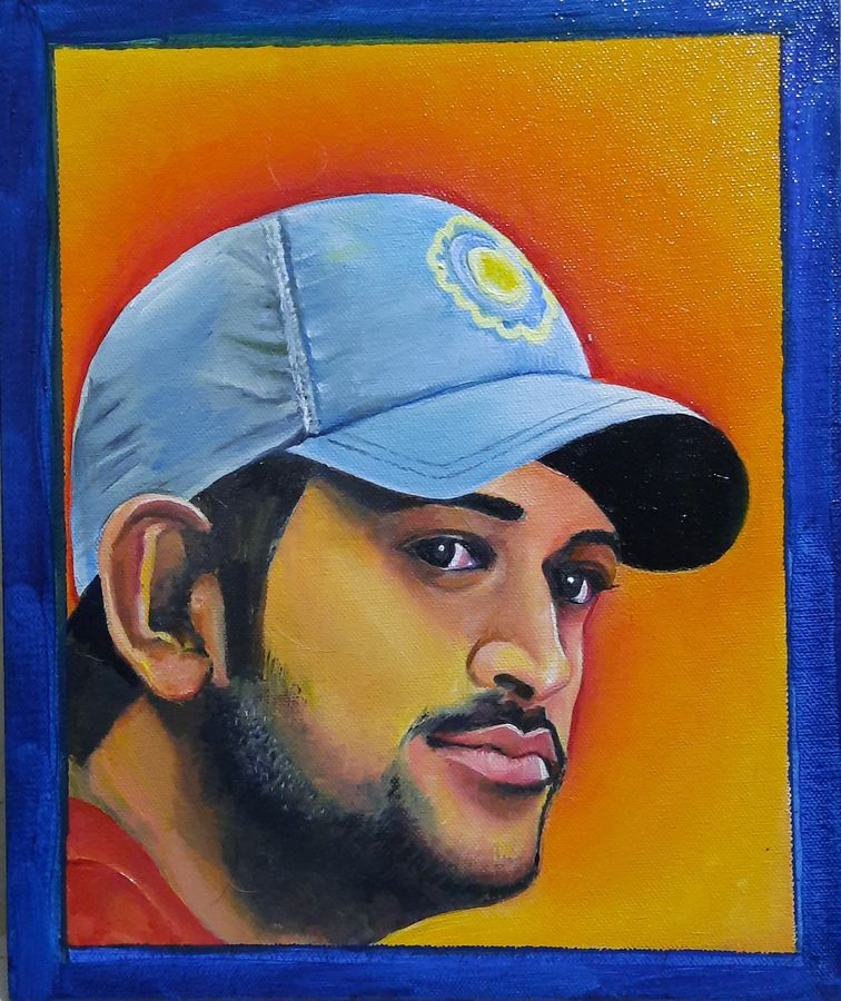 msd-the dreamer, 12 x 12 inch, ravi almeida,12x12inch,canvas,paintings,portrait paintings,oil color,ADR21241030707