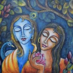 Eternal Love (Radha & Krishna) - 24x22
