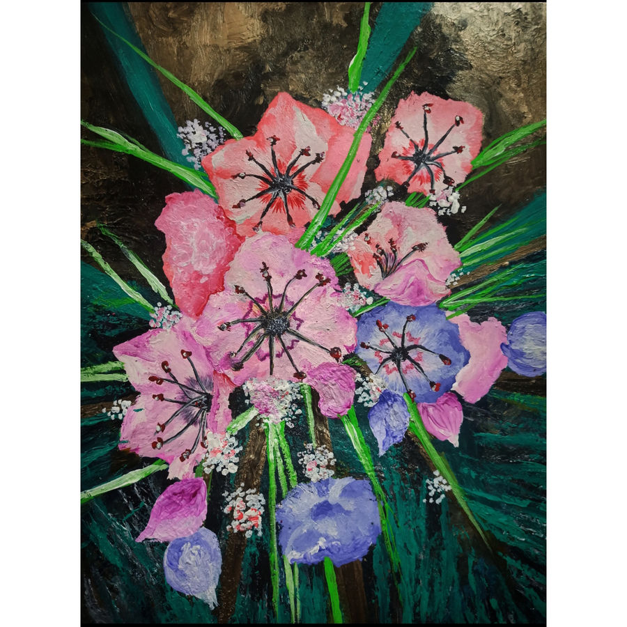 kalmia, 11 x 14 inch, ritika gupta,11x14inch,thick paper,paintings,flower paintings,nature paintings   scenery paintings,art deco paintings,paintings for dining room,paintings for living room,paintings for bedroom,paintings for office,paintings for bathroom,paintings for kids room,paintings for hotel,paintings for kitchen,paintings for schools & colleges,paintings for hospital,acrylic color,ADR20417030716