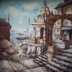 Varanasi series-1 - 22x22