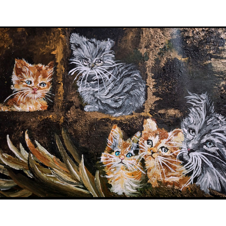 kingdom of cats, 14 x 11 inch, ritika gupta,14x11inch,thick paper,paintings,wildlife paintings,art deco paintings,realism paintings,animal paintings,contemporary paintings,paintings for dining room,paintings for living room,paintings for bedroom,paintings for office,paintings for bathroom,paintings for kids room,paintings for hotel,paintings for kitchen,paintings for schools & colleges,paintings for hospital,acrylic color,ADR20417030720