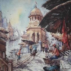 Benaras ghat-2 - 15x22