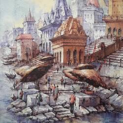 Benaras ghat-4 - 15x22