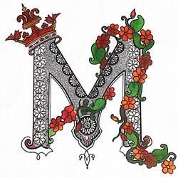 letter M  - 16x11