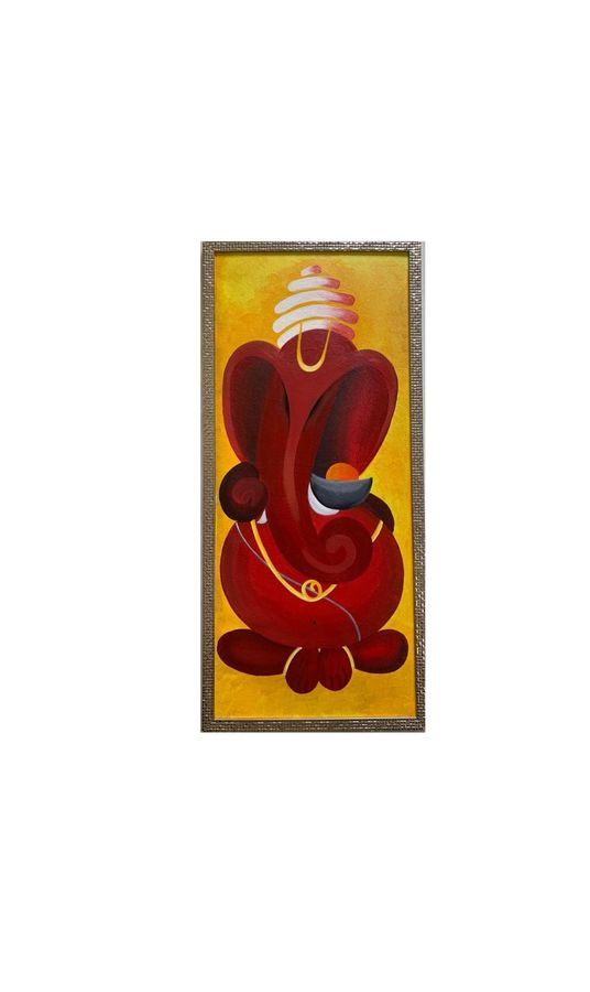 ganesha , 14 x 30 inch, vaidehi chhabria,14x30inch,canvas,paintings,abstract paintings,modern art paintings,conceptual paintings,religious paintings,portraiture,ganesha paintings | lord ganesh paintings,contemporary paintings,paintings for dining room,paintings for living room,paintings for bedroom,paintings for office,paintings for hotel,paintings for dining room,paintings for living room,paintings for bedroom,paintings for office,paintings for hotel,acrylic color,ADR21139030737