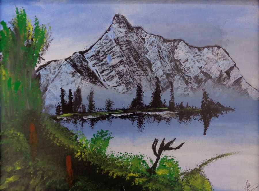 snow mountain, 16 x 12 inch, tejal bhagat,16x12inch,canvas board,paintings,flower paintings,landscape paintings,conceptual paintings,nature paintings | scenery paintings,photorealism paintings,photorealism,realism paintings,surrealism paintings,paintings for dining room,paintings for living room,paintings for bedroom,paintings for office,paintings for kids room,paintings for hotel,paintings for kitchen,paintings for schools & colleges,paintings for hospital,acrylic color,ADR21262030746
