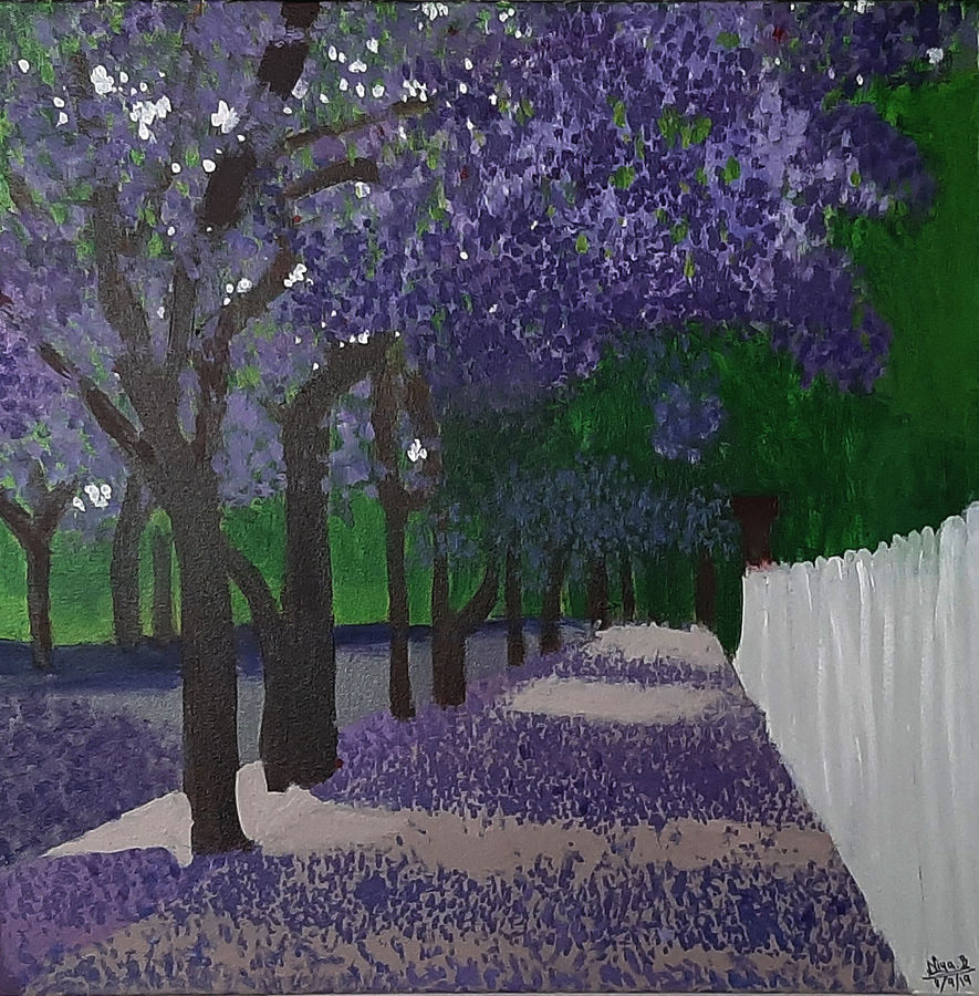 purple maple, 18 x 18 inch, tejal bhagat,18x18inch,canvas,paintings,flower paintings,landscape paintings,conceptual paintings,nature paintings | scenery paintings,expressionism paintings,impressionist paintings,photorealism paintings,photorealism,realism paintings,surrealism paintings,contemporary paintings,realistic paintings,love paintings,paintings for dining room,paintings for living room,paintings for bedroom,paintings for office,paintings for bathroom,paintings for kids room,paintings for hotel,paintings for kitchen,paintings for schools & colleges,paintings for hospital,acrylic color,ADR21262030748