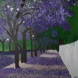 Purple Maple - 18x18