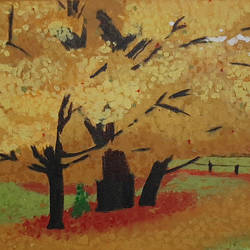 Yellow Leaves - 22x15
