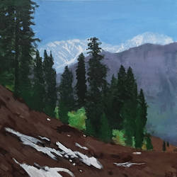 Himachal Mountains - 18x18