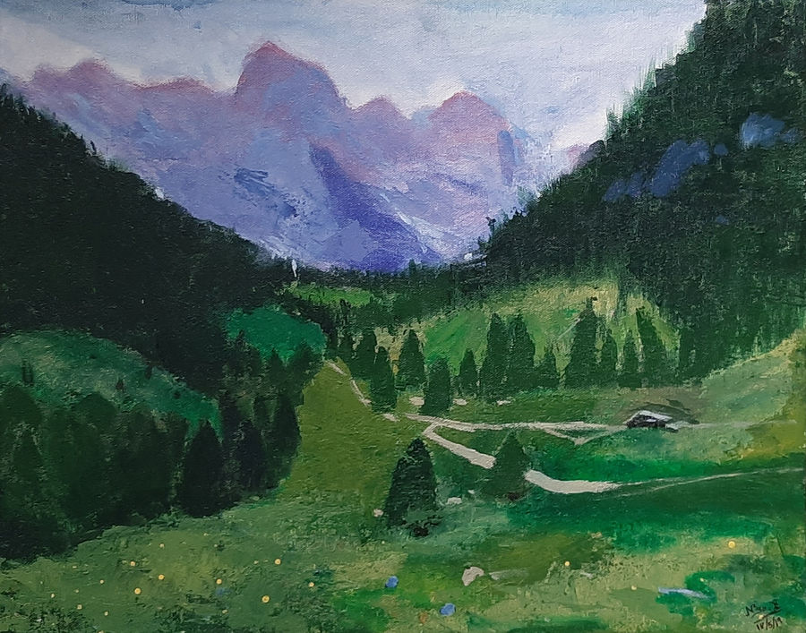 himachal greens, 20 x 16 inch, tejal bhagat,20x16inch,canvas,paintings,flower paintings,landscape paintings,conceptual paintings,nature paintings | scenery paintings,expressionism paintings,impressionist paintings,photorealism paintings,photorealism,realism paintings,surrealism paintings,realistic paintings,paintings for dining room,paintings for living room,paintings for bedroom,paintings for office,paintings for hotel,paintings for kitchen,paintings for schools & colleges,paintings for hospital,acrylic color,ADR21262030759