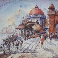 Benaras ghat-7 - 22x15