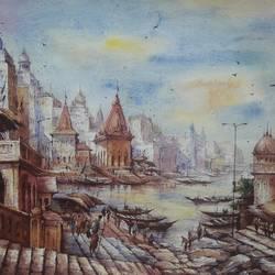 Benaras ghat-8 - 22x15