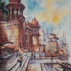 Benaras ghat-9 - 15x22
