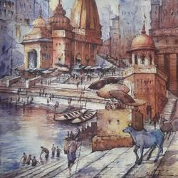 Benaras ghat-10 - 15x22