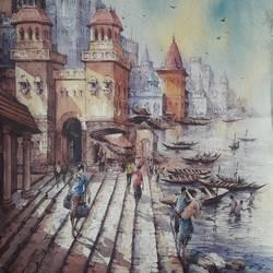 Benaras ghat-11 - 15x22