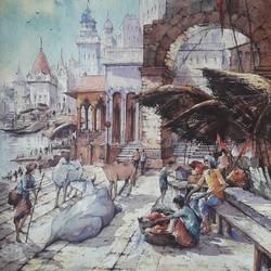 Benaras ghat-12 - 15x22