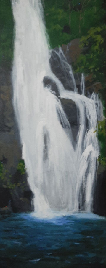 waterfall, 12 x 30 inch, tejal bhagat,12x30inch,canvas,paintings,flower paintings,landscape paintings,conceptual paintings,nature paintings | scenery paintings,expressionism paintings,impressionist paintings,photorealism paintings,photorealism,realism paintings,contemporary paintings,realistic paintings,love paintings,paintings for dining room,paintings for living room,paintings for bedroom,paintings for office,paintings for bathroom,paintings for hotel,paintings for kitchen,paintings for schools & colleges,paintings for hospital,acrylic color,ADR21262030777