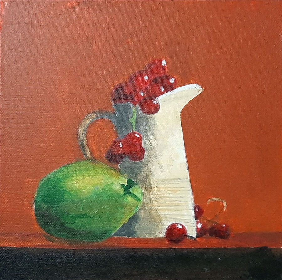 still life 02, 12 x 12 inch, tejal bhagat,12x12inch,canvas board,paintings,still life paintings,expressionism paintings,impressionist paintings,photorealism paintings,photorealism,realism paintings,surrealism paintings,contemporary paintings,realistic paintings,paintings for dining room,paintings for living room,paintings for bedroom,paintings for office,paintings for hotel,paintings for kitchen,paintings for schools & colleges,paintings for hospital,acrylic color,ADR21262030787