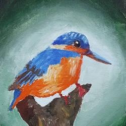 Kingfishers - 6x8