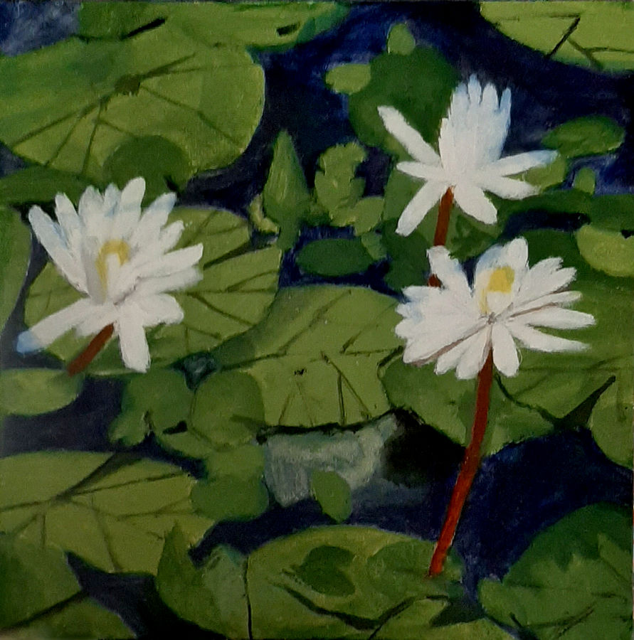 white lotus, 12 x 12 inch, tejal bhagat,12x12inch,canvas board,paintings,flower paintings,nature paintings   scenery paintings,expressionism paintings,impressionist paintings,photorealism paintings,photorealism,realism paintings,surrealism paintings,contemporary paintings,realistic paintings,love paintings,paintings for dining room,paintings for living room,paintings for bedroom,paintings for office,paintings for bathroom,paintings for hotel,paintings for kitchen,paintings for schools & colleges,paintings for hospital,acrylic color,ADR21262030796
