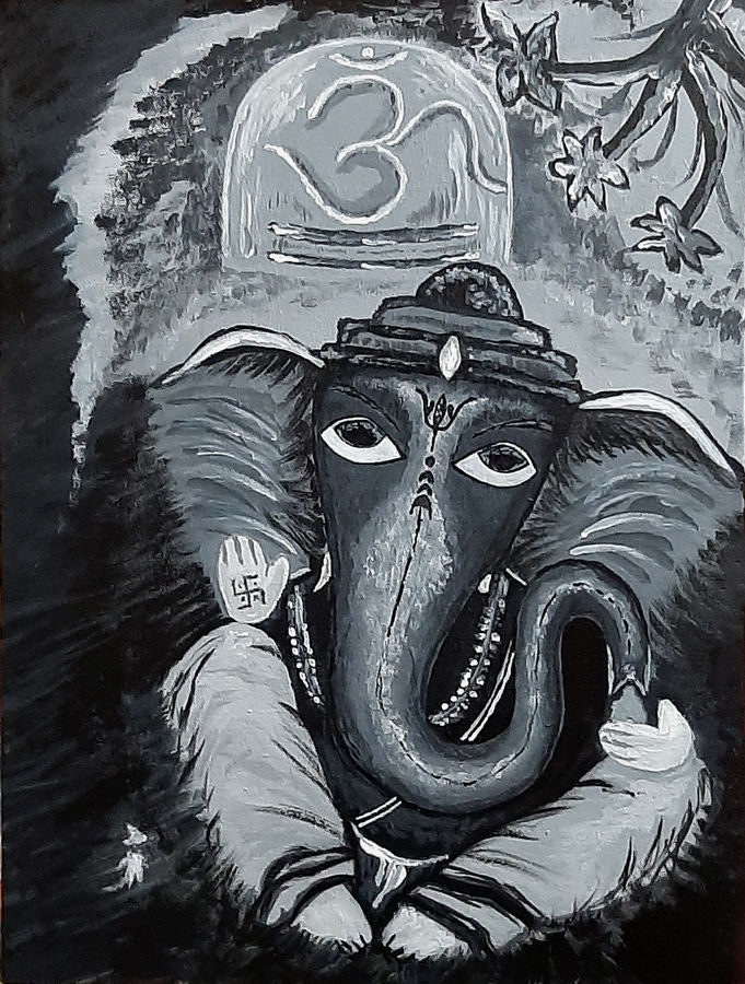 bal ganesh, 12 x 16 inch, tejal bhagat,12x16inch,canvas board,paintings,religious paintings,ganesha paintings | lord ganesh paintings,love paintings,lord shiva paintings,paintings for dining room,paintings for living room,paintings for bedroom,paintings for office,paintings for kids room,paintings for hotel,paintings for kitchen,paintings for schools & colleges,acrylic color,ADR21262030799
