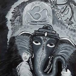 Bal Ganesh - 12x16