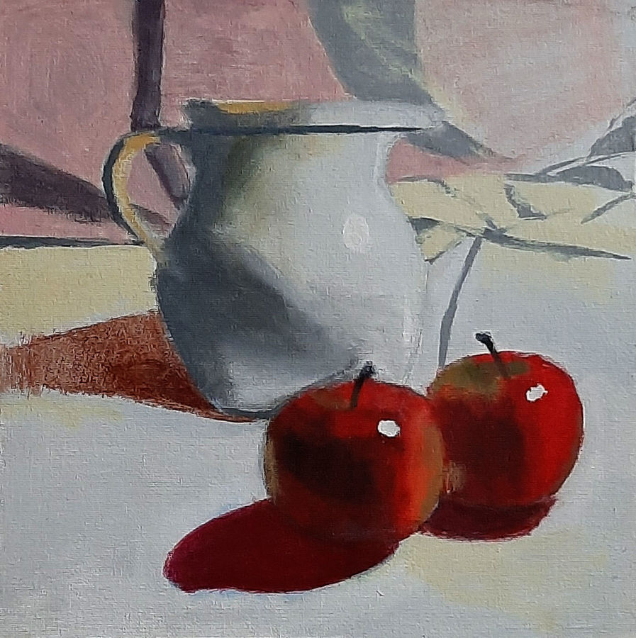 still life 03, 12 x 12 inch, tejal bhagat,12x12inch,canvas board,paintings,conceptual paintings,still life paintings,expressionism paintings,impressionist paintings,photorealism paintings,photorealism,realism paintings,surrealism paintings,realistic paintings,paintings for dining room,paintings for living room,paintings for bedroom,paintings for office,paintings for hotel,paintings for kitchen,paintings for schools & colleges,paintings for hospital,acrylic color,ADR21262030801